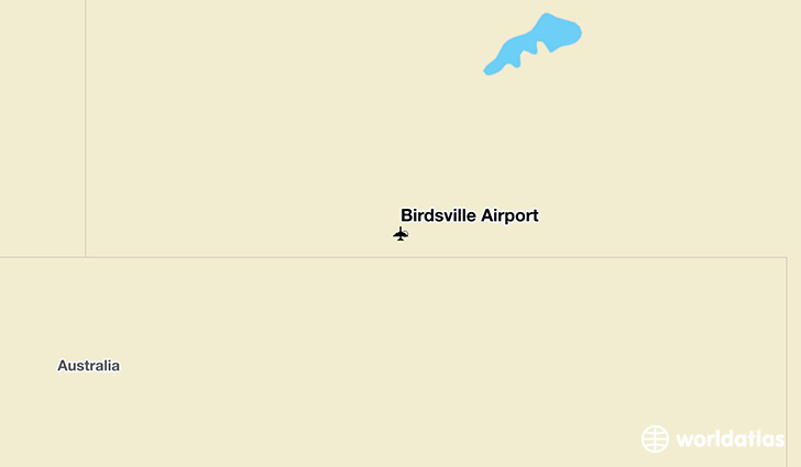 Birdsville Airport location on a map