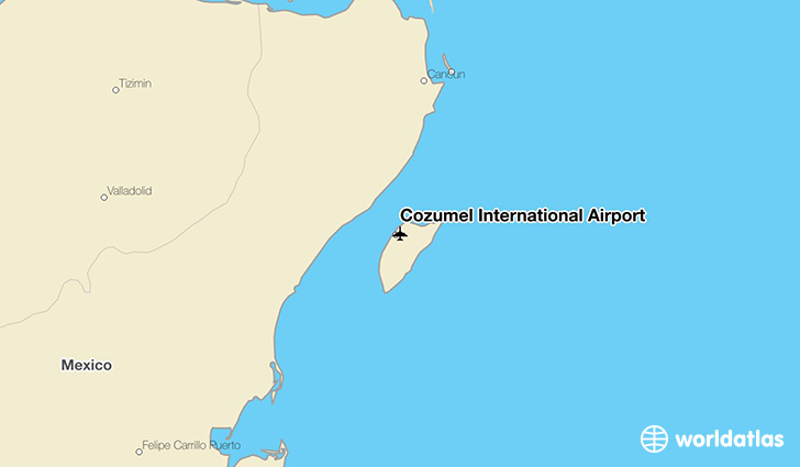Cozumel International Airport location on a map