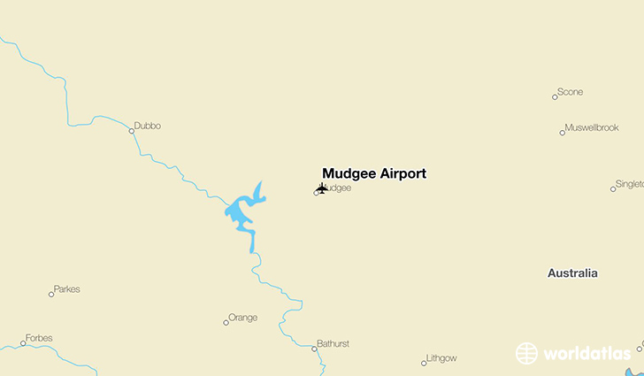 Mudgee Airport location on a map