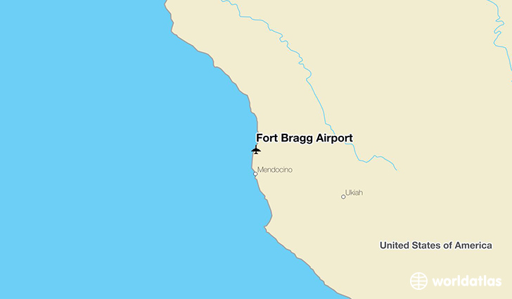 Fort Bragg Airport location on a map
