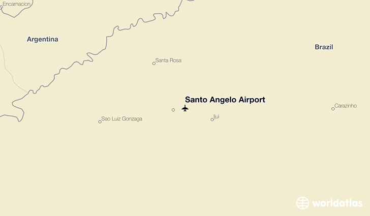 Santo Ângelo Airport location on a map