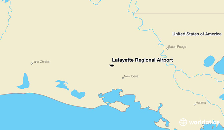 Lafayette Regional Airport location on a map