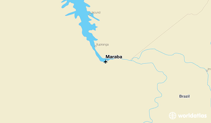Maraba location on a map