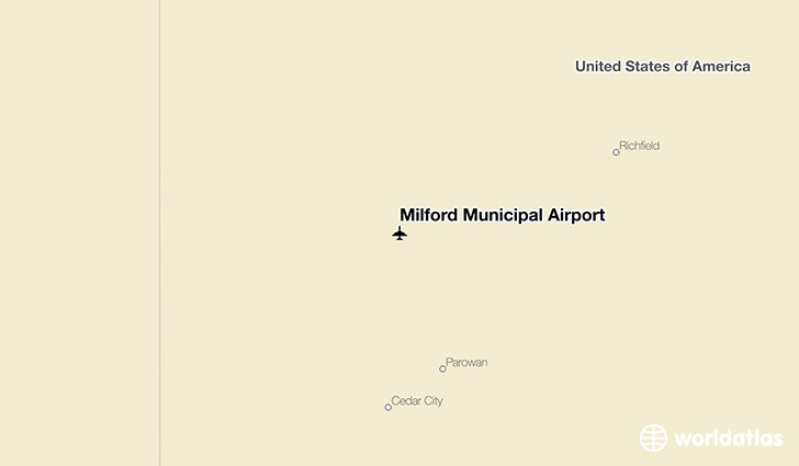 Milford Municipal Airport location on a map