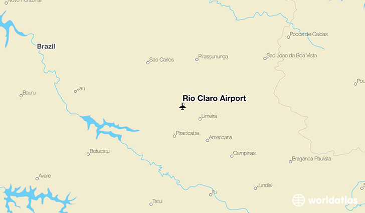 Rio Claro Airport location on a map