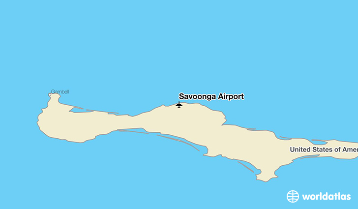 Savoonga Airport location on a map