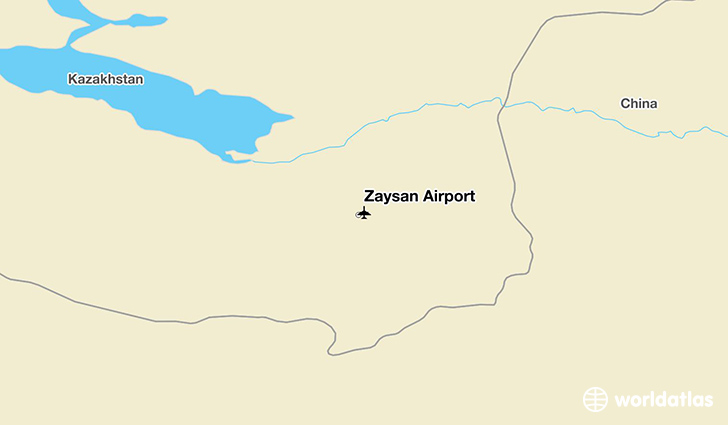 Zaysan Airport location on a map