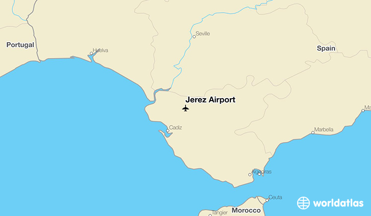 Jerez Airport location on a map