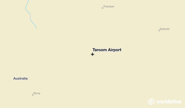 Taroom Airport location on a map