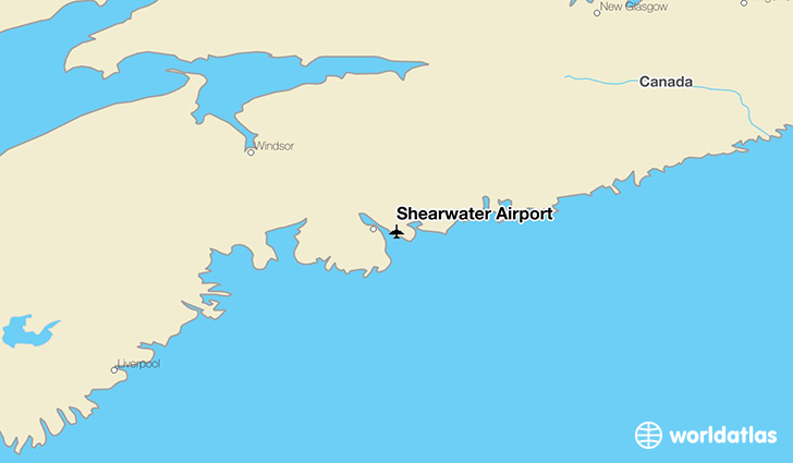 Shearwater Airport location on a map