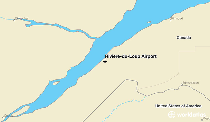 Rivière-du-Loup Airport location on a map