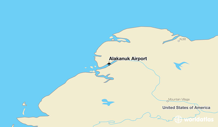 Alakanuk Airport location on a map