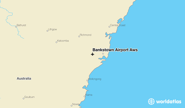 Bankstown Airport Aws location on a map