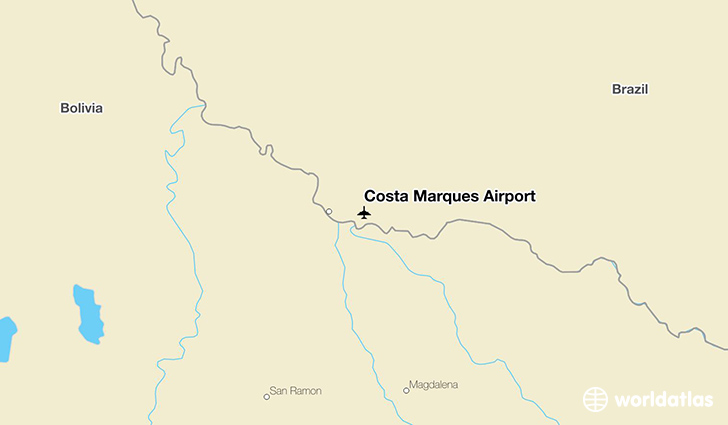 Costa Marques Airport location on a map