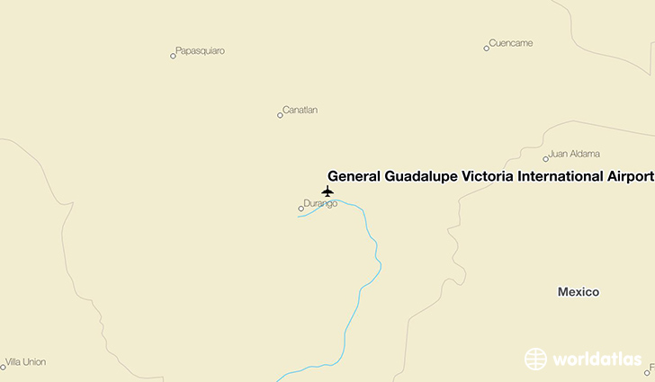General Guadalupe Victoria International Airport location on a map