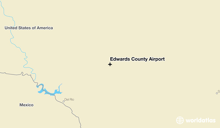 Edwards County Airport location on a map