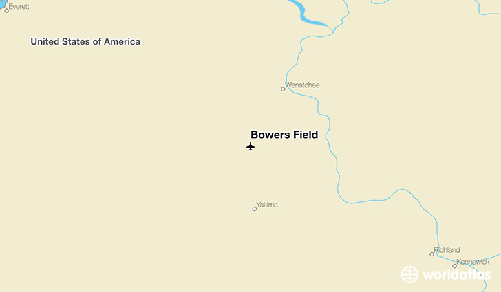 Bowers Field location on a map