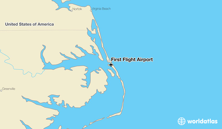First Flight Airport location on a map