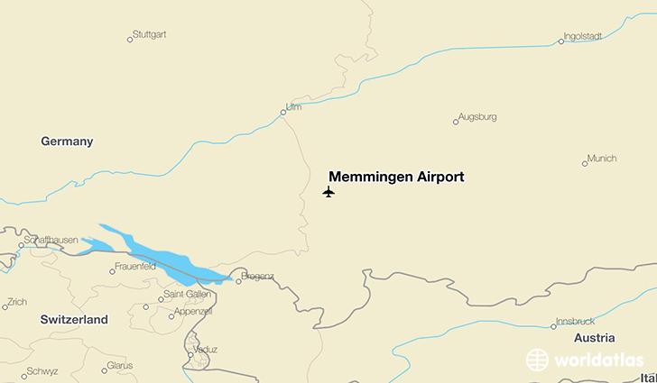 Map Of Germany Memmingen.Memmingen Airport Fmm Worldatlas