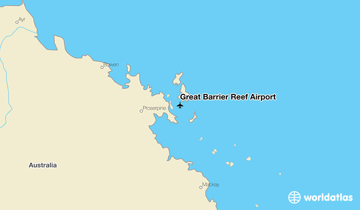 Great Barrier Reef Airport location on a map