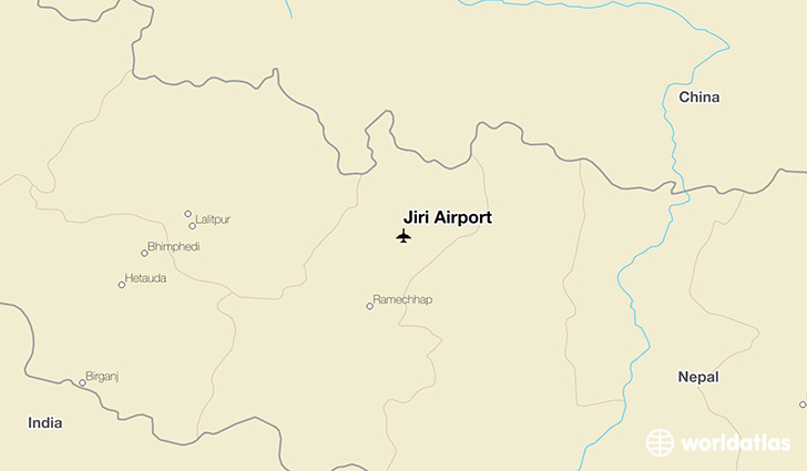 Jiri Airport location on a map