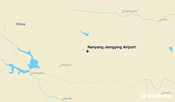 Nanyang Jiangying Airport location on a map
