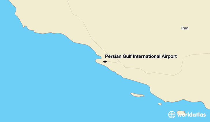 Persian Gulf International Airport location on a map