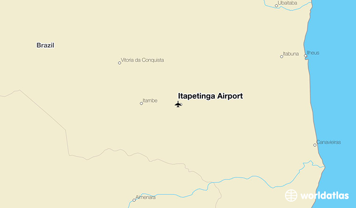 Itapetinga Airport location on a map