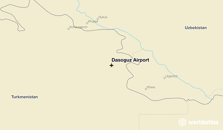 Daşoguz Airport location on a map