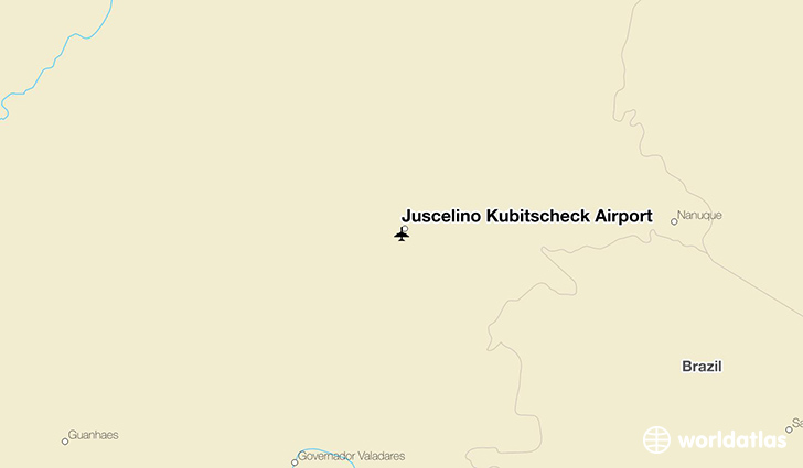 Juscelino Kubitscheck Airport location on a map