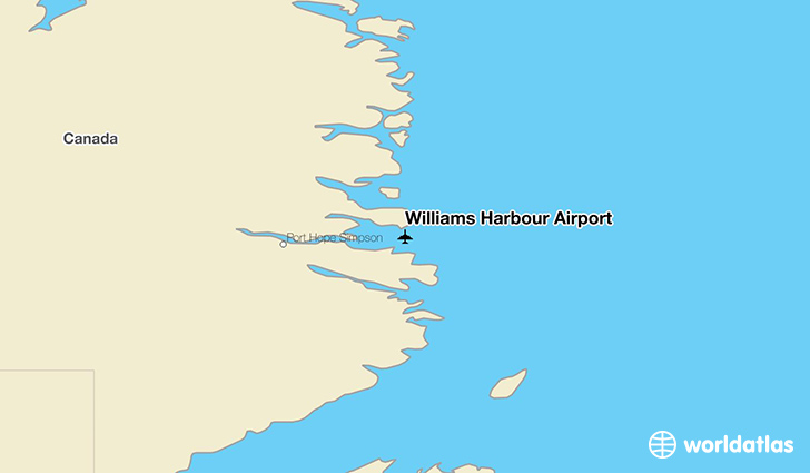Williams Harbour Airport location on a map