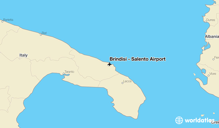Brindisi – Salento Airport location on a map