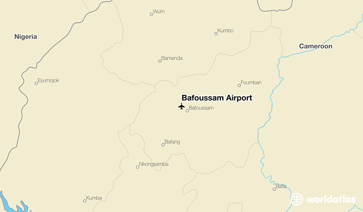 Bafoussam Airport location on a map