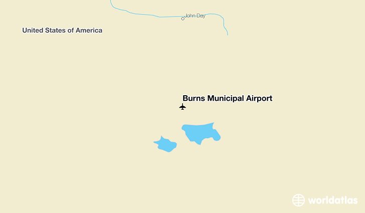 Burns Municipal Airport location on a map