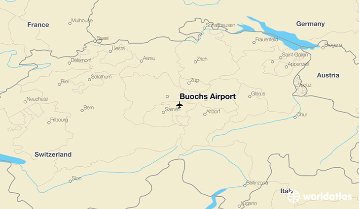 Buochs Airport location on a map