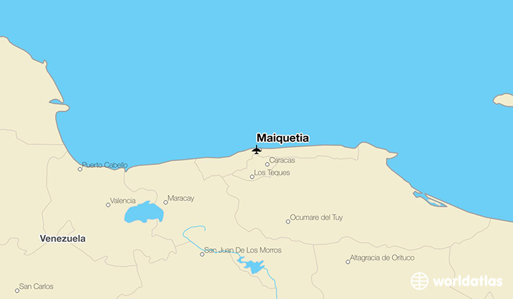 Maiquetia location on a map