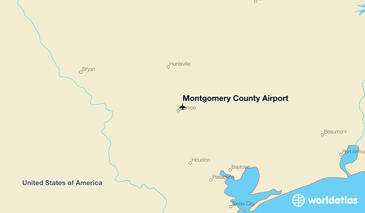 Montgomery County Airport location on a map