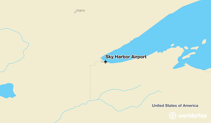 Sky Harbor Airport location on a map