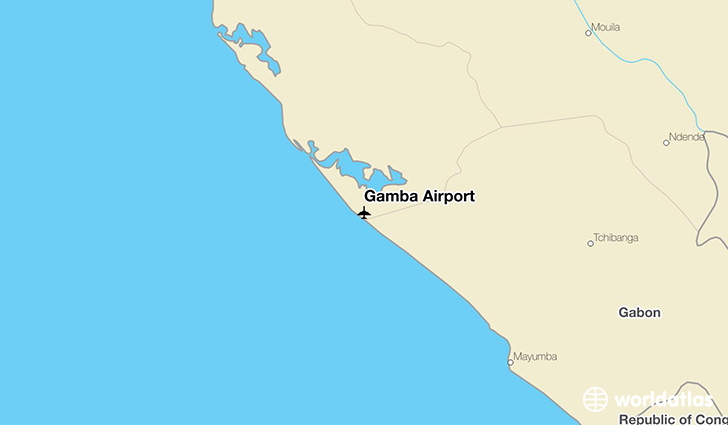 Gamba Airport location on a map