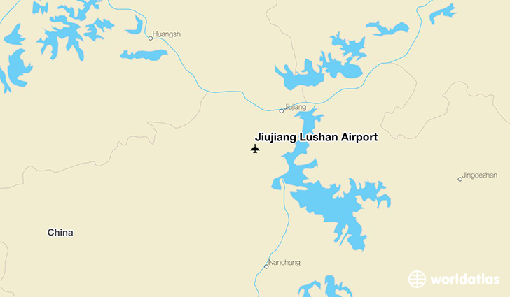 Jiujiang Lushan Airport location on a map