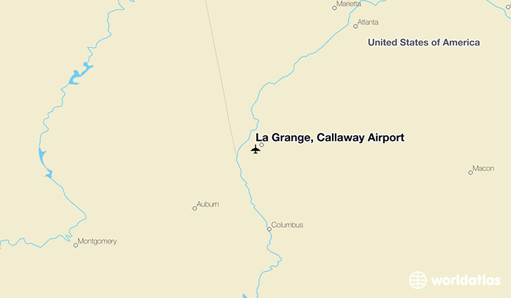 La Grange, Callaway Airport location on a map