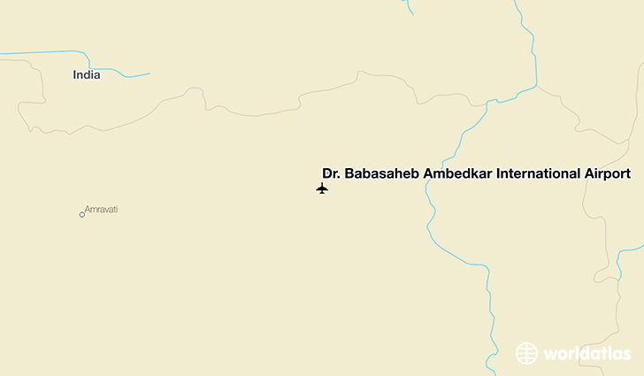 Dr. Babasaheb Ambedkar International Airport location on a map
