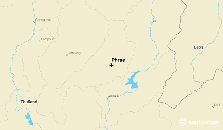 Phrae location on a map