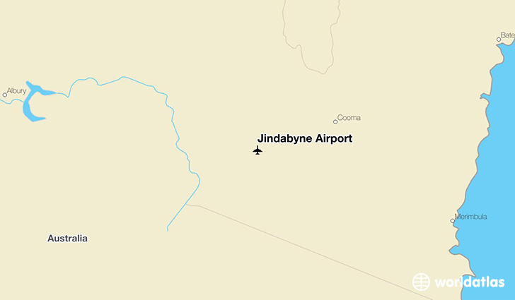 Jindabyne Airport location on a map