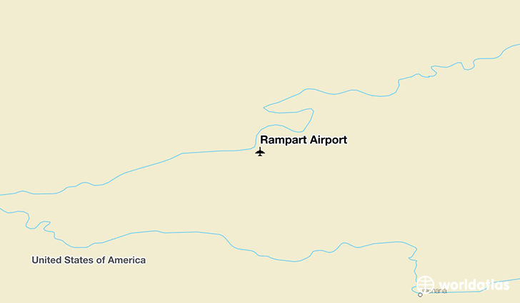 Rampart Airport location on a map