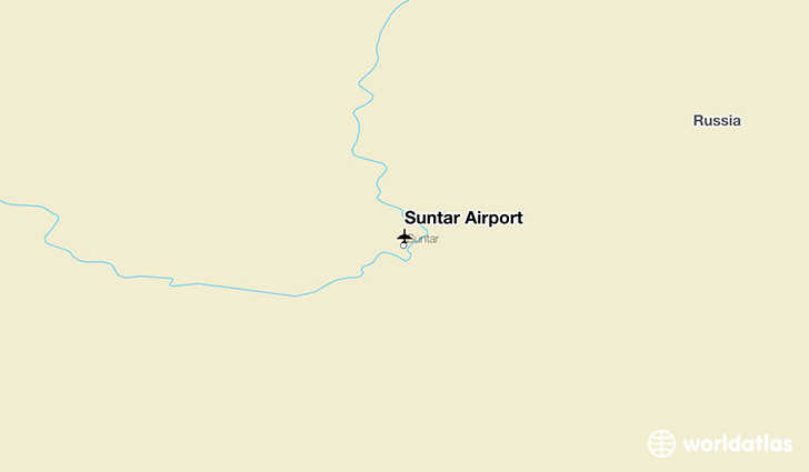 Suntar Airport location on a map
