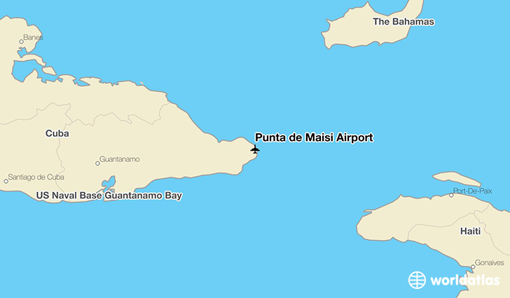 Punta de Maisi Airport location on a map