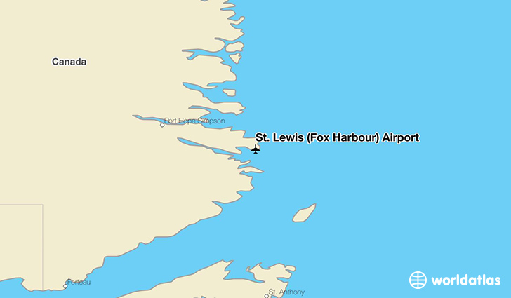 St. Lewis (Fox Harbour) Airport location on a map