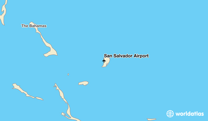San Salvador Airport location on a map