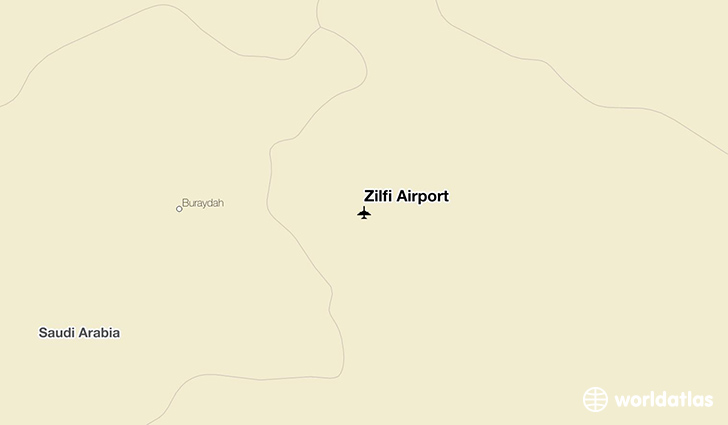 Zilfi Airport location on a map